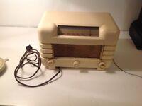 Sundown Sapphire Model D121 series MASTERADIO - Ivory Bakelite Vintage Radio by MASTERADIO -