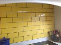 Yellow metro tiles 0.9m2