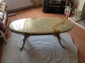 Onyx Gold Effect Coffee Table