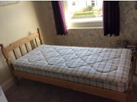 """AS NEW Standard 3"""" single wooden bed frame AND mattress"""