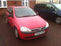 02 One litre Vauxhall Corsa. Ideal 1st car for learning Low mileage sound little car