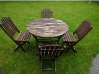 Free Garden Table and 4 Chairs
