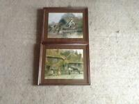 TWO FRAMED PRINTS OF COUNTRY SCENES