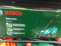 Bosch and qualcast lawn mowers