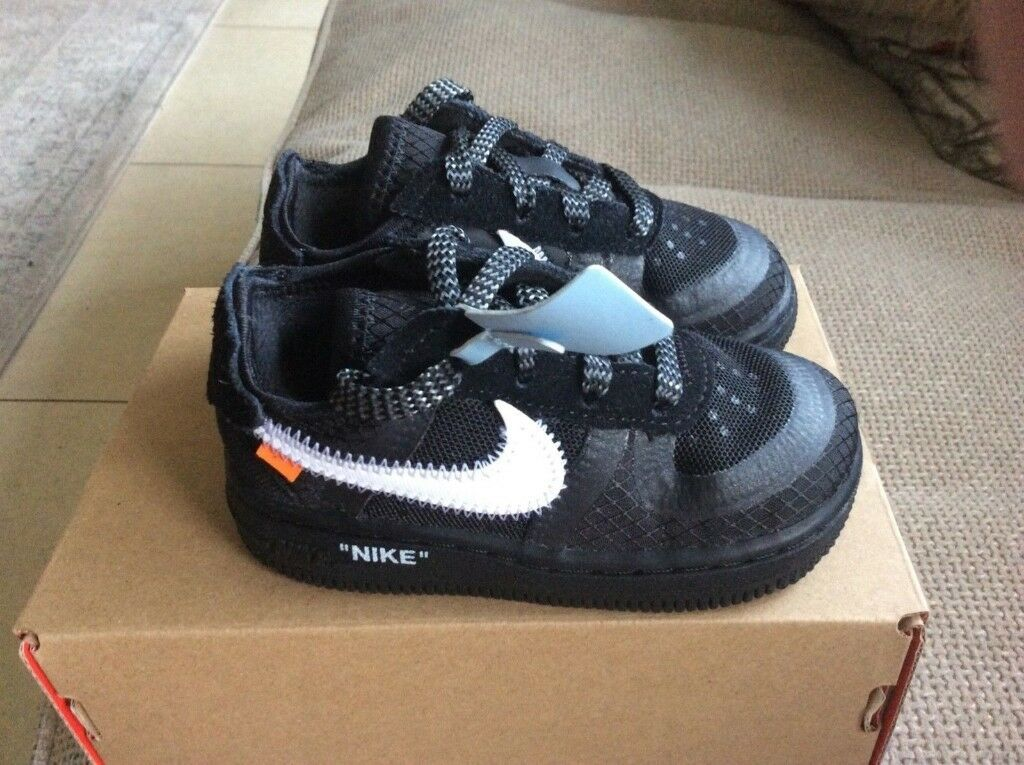 quality design c8937 4dd20 The 10  BT Off White x Nike Air Force 1 LOW Toddler UK 5.5