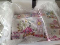 Practically brand new m&s childrens bedding with feather and down quilt