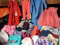 Girls clothes age 2 to 3 year's. hardly worn big bundle.Also 2 Bright Red Disney Belle suits. gilet