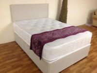 KINGSIZE 5 FT BED WITH ORTHO MEMORY FOAM MATTRESS AND HB