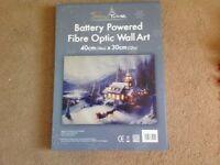 Fibre Optic Christmas wall art