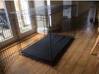 Pets at Home single door dog crate and base mat