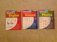 Study books Succeed in English , Maths and Science 11-14 years