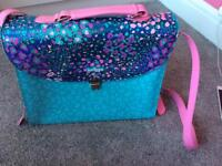 Smiggle girls Rosie satchel backpack turquoise and pink