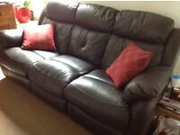 Black Leather Recliner Sofa 3 Seater - Offers invited.
