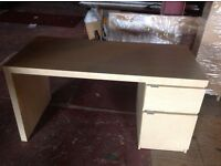 FOR SALE - Office desk & drawer unit with black swivel chair