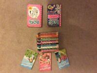CHILDRENS BOOKS ENID BLYTON MALORY TOWERS, NAUGHTIEST GIRL DORK DIARIES.