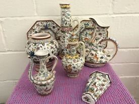 PORTUGESE POTTERY, 8 PIECES, AS NEW