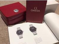Omega seamaster (black) 212.30.41.61.01.001 full sized 41mm watch box/papers