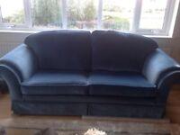 2 large 2 seater sofas classic style like Alstons Laura Ashley teal velvet colour