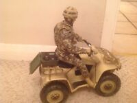 Desert quad bike with action figure