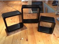 Modern shelf cubes
