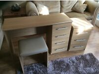 Child's dressing table come desk and cabinet and seat