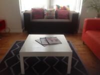 White funky coffee table