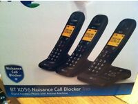 BT XD567 ANSWERPHONE WITH THREE HANDSETS AND CALL BLOCKER