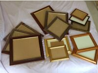 Job Lot of Picture Frames in Assorted Sizes/Materials