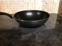Tefal non stick wok with thermo spot