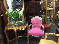 Pink & silver princess chair