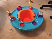 2stage Baby Support Seat with 360 degree activity tray.
