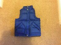 Boys Gap Body Warmer. Age 4-5. Bright blue. Hardly worn.
