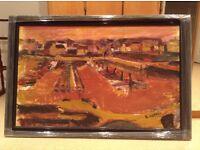Stephen Forbes Bangor marina - oil on canvas