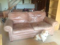 Mark Elliott handmade light brown leather sofa - large