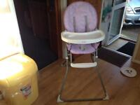 Red kite high chair good condition