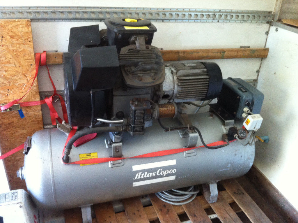 Atlas Copco Air Compressor - 3 Phase, 200 Ltr - Can Pallet