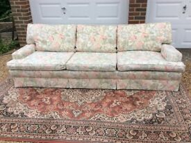 Sofa -£100 o.n.o high quality, re upholstered, removeable covers, lovely condition.