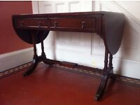Antique Drop Leaf Hall Console Table Writing Desk in Need of TLC / Can Deliver