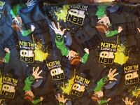 Pair of curtains Ben 10 for boys bedroom
