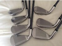 Callaway x2 hot irons, 4-PW, graphite shafts