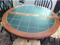 Tiled table and 4 chairs