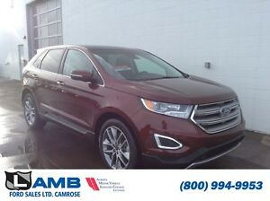 2016 Ford Edge Titanium 302A AWD Moonroof Navigation Active Park