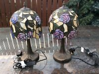 PAIR OF 2 TIFFANY STYLE TABLE LAMPS - £70ono