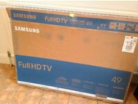 Samsung HD large screen TV box Very large Empty Television