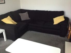 This corner sofa bed is immaculate- the bed has never been used.