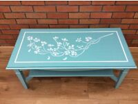 Hand Painted Solid Wood Coffee Table