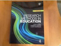 Undergraduate/Education/Teaching: Research Methods in Education by Louis Cohen (7thEdition)