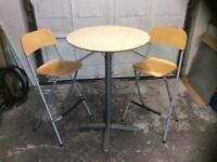 Ikea table and stools.