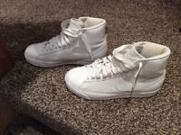 Nike trainers /high tops size 4 white worn once