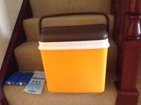 1970s Curver retro picnic cool box orange